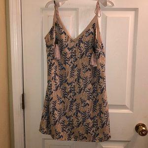 Lulu's Feather Print Mini Dress